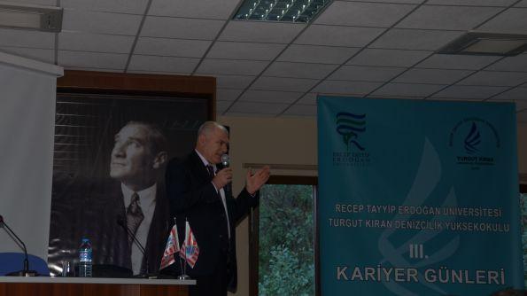 H. Musa Cıbıroğlu Turgut Kıran Denizcilik Yüksekokulu Kariyer Günleri Konuğu Oldu..
