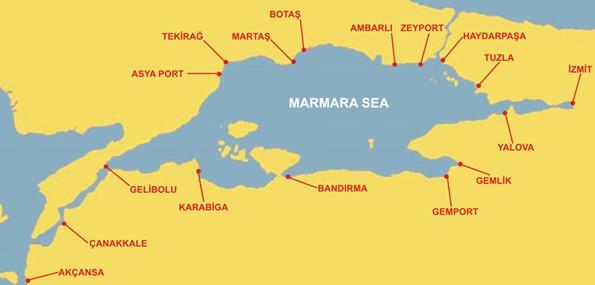 Marmara Bölgesi Liman Lokasyonları
