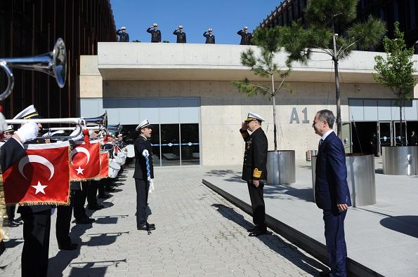 Piri Reis Üniversitesi Boru Trampet Takımı,Deniz Kuvvetleri Komutanı Ziyareti.