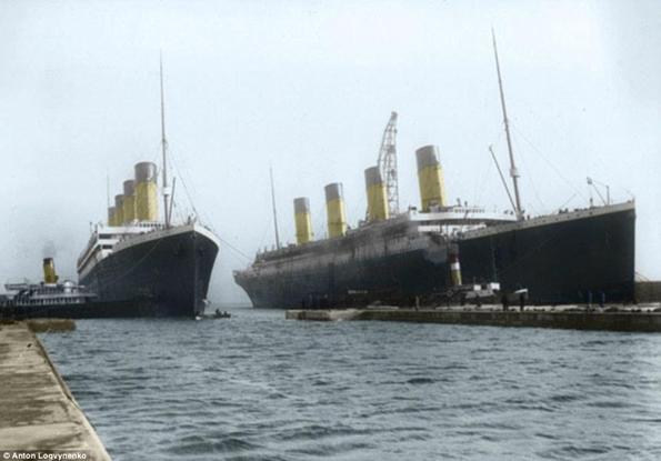 Siyah&Beyaz Titanic 'in Renklendirilmesi 12