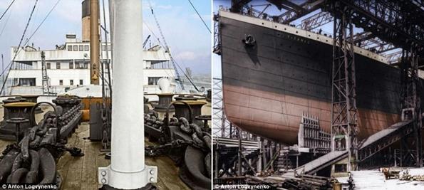 Siyah&Beyaz Titanic 'in Renklendirilmesi 3