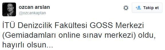 Özcan Arslan Twitter Duyurusu