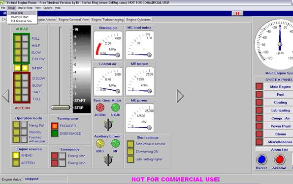 1-Engine Control Panel