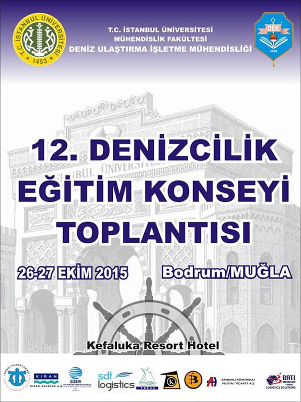 12. Denizcilik Eğitim Konseyi Toplantısı Afişi
