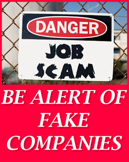 Be Alert of Fake Companies