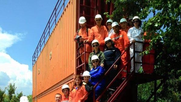 Denizde Güvenlik Eğiticileri Yangın Eğitiminde
