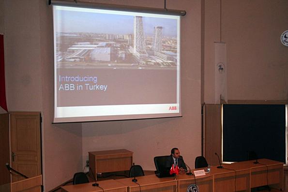 Dokuz Eylül Üniversitesi Denizcilik Fakültesi Kariyer Günlerine ABB İzmir Servis Koordinatörü Baş Mühendis Onur TONGUL katıldı.
