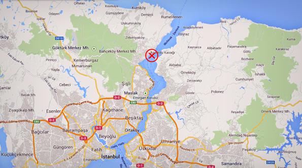 Nassia ve Shipbroker Kazası - Harita