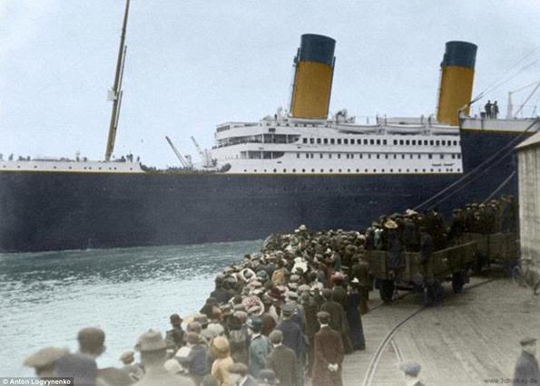 Siyah&Beyaz Titanic 'in Renklendirilmesi 4